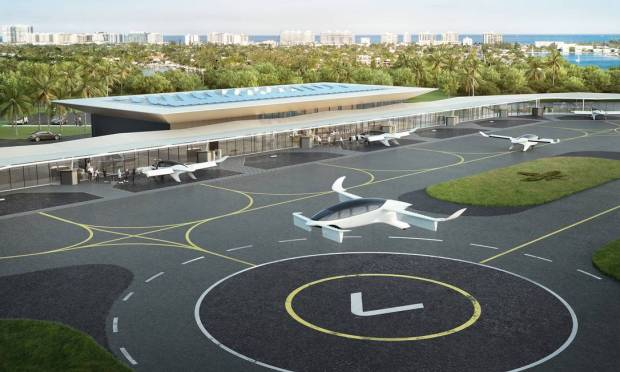 eVTOL will require much simpler infrastructure than that required for aircraft at airports.  Take-off is vertical, like helicopters and drones, with long runways dispensed.  With the advantage that the electric motor is much quieter than helicopters, which will gain a strong contender Image: Divulgação / Reproduction