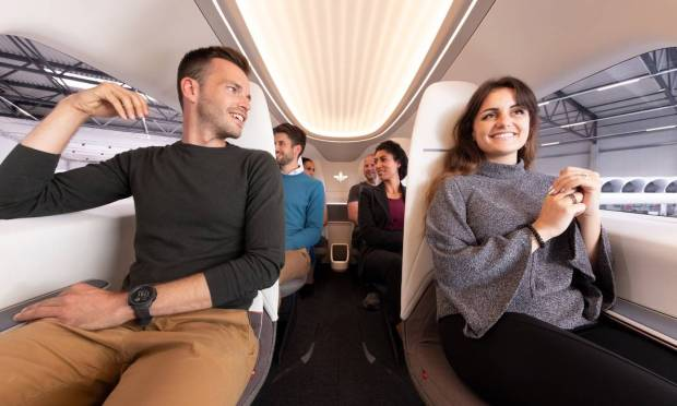 The interior of the Lilium looks comfortable and resembles a mixture of an airplane and a car: it can accommodate six passengers and one pilot.  There is also a luggage compartment on board.  Photo: clone / publicity