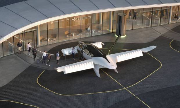 A simulation of boarding the Lilium, an electric flying vehicle that seats six passengers and one pilot.  Takeoff is vertical like a helicopter.  Azul wants to operate it in Brazil from 2025 for short trips, such as between São Paulo and Guaruja or Rio and Paraty.  Photo: Reproduction / Disclosure