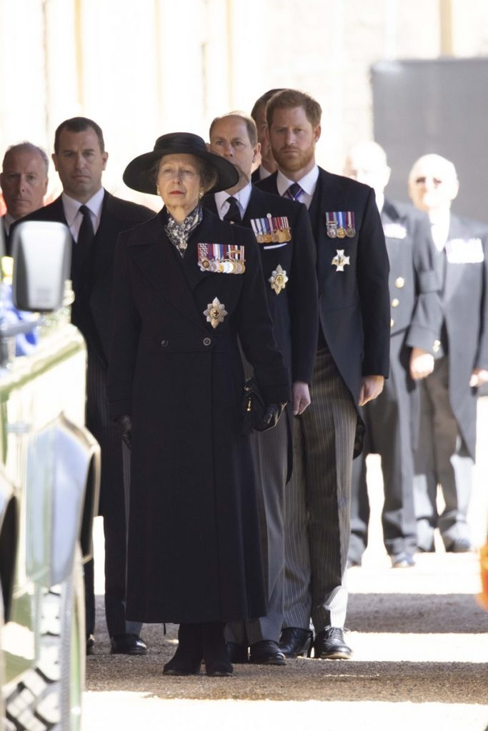 Princess Anne, Prince Edward and Prince Harry