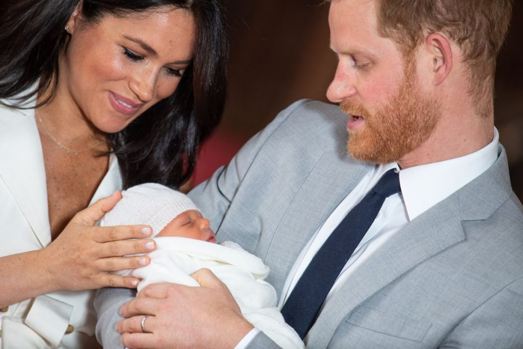 With Megan Markle and Prince Harry Archie