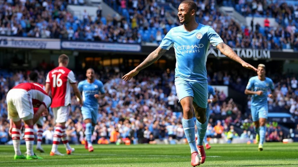 Manchester City crushed Arsenal 5-0 with a goal and a pass from Gabriel Jesus to drown Arsenal in the spotlight