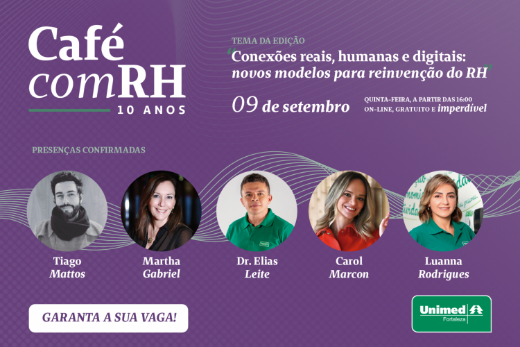 Unimed Fortaleza is promoting a free online event for entrepreneurs, managers and HR professionals