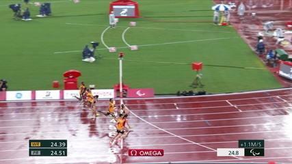 Thalita Simplicio wins silver in the 200m in T11 and Girosa dos Santos wins bronze - Paralympic Games Tokyo