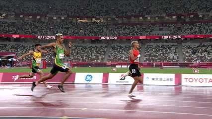 Thomaz Moraes took silver and Petrúcio Ferreira bronze in the 400m T47 - Tokyo Paralympic