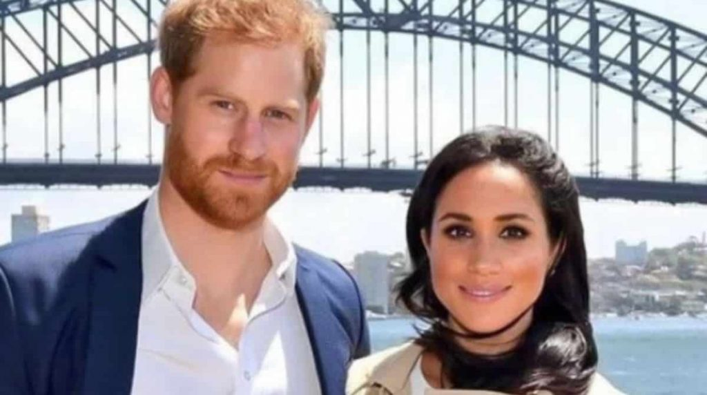 Meghan Markle shows Prince Harry with his newborn baby