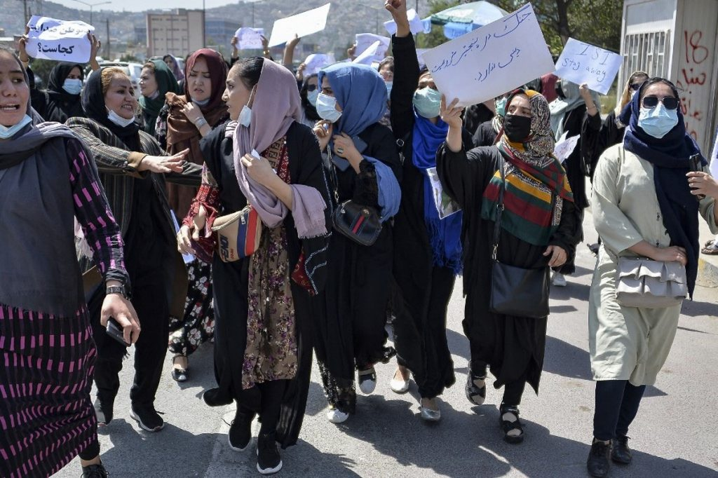In Kabul, women are protesting alleged Pakistani interference in Afghan politics.  The Taliban dispersed a demonstration with bullets in the air    Globalism