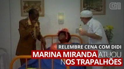 Marina Miranda participated in Os Trapalhões alongside Tião Macalé