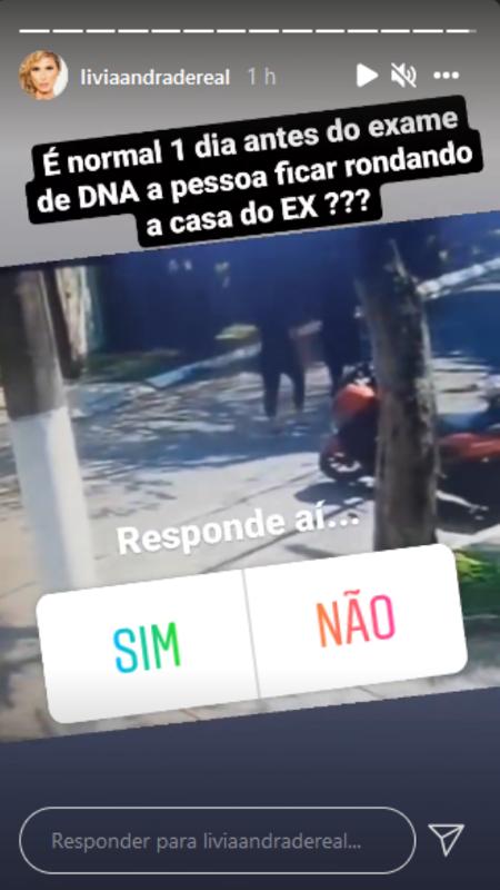 Livia Andrade Story - Clone / Instagram - Clone / Instagram
