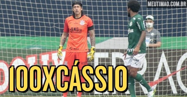 Casio completed a classic 100 in a Corinthians jersey in Saturday's derby