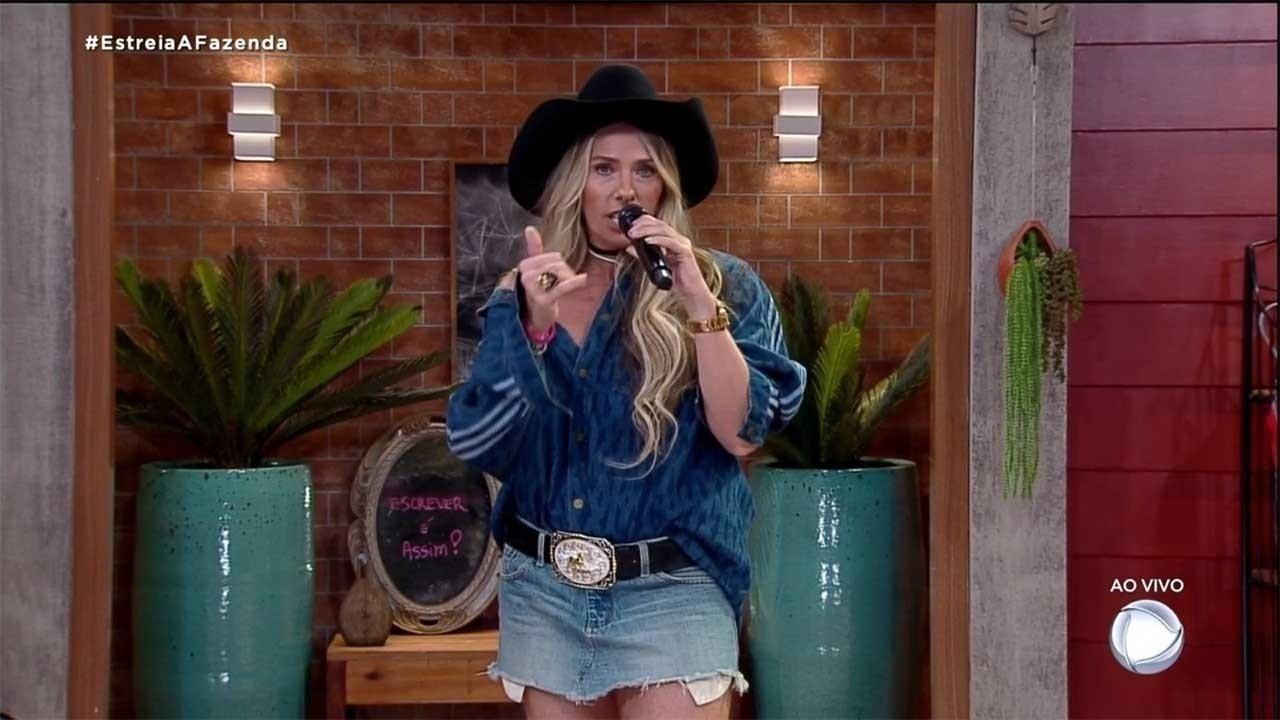 A Farm 2020: Adriane Galisteu debuts a Beyoncé look - clone / Instagram