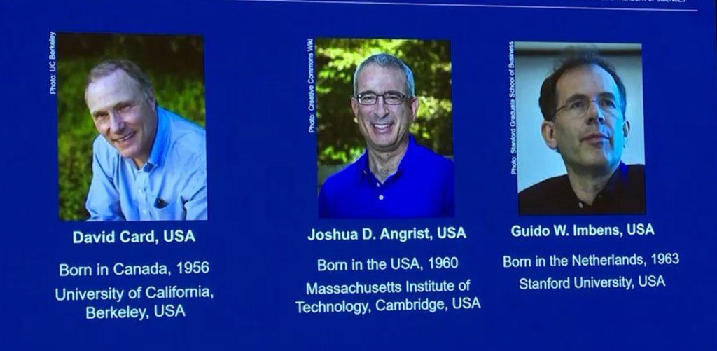 David Card, Joshua Ingreste and Guido Empains win the 2021 Nobel Prize in Economics    Economie