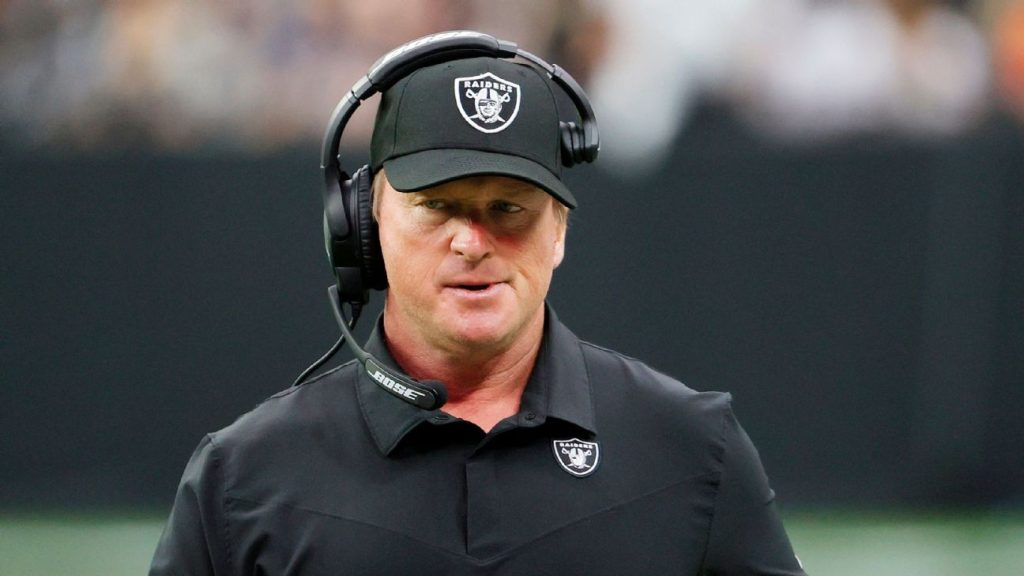 Raiders coach John Gruden has resigned after emails were released containing racist and homophobic content