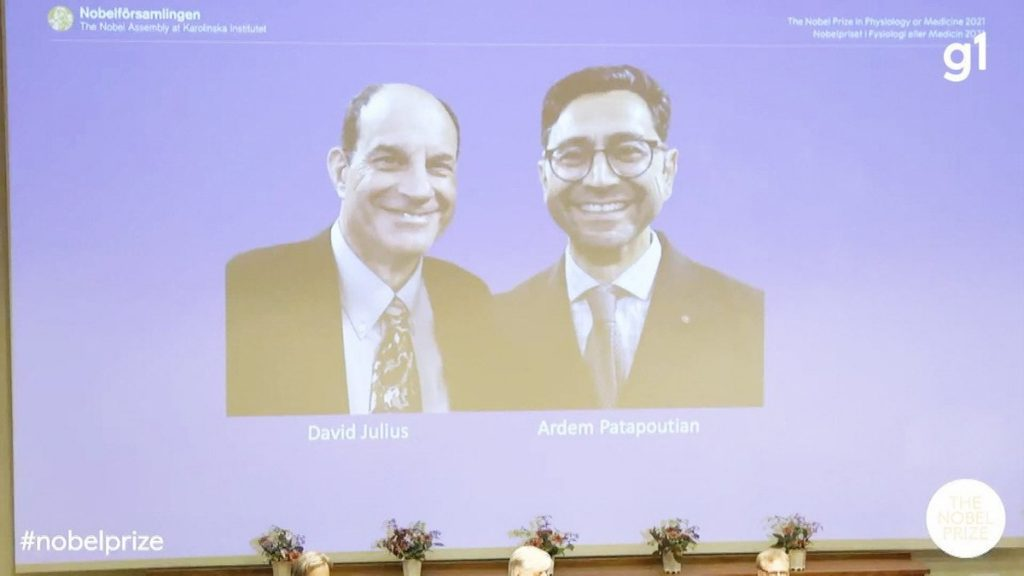 The 2021 Nobel Prize in Medicine goes to David Julius and Erdem Patbutian for their discoveries about temperature and touch |  Science