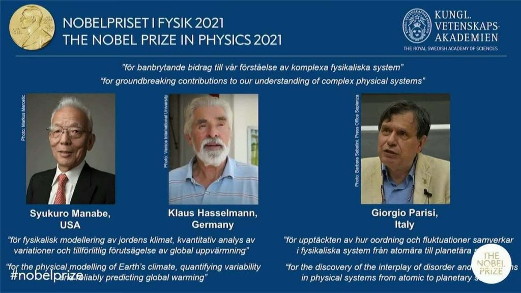 The 2021 Nobel Prize in Physics goes to Siokoro Manabe, Klaus Hesselmann and Giorgio Baresi |  Science