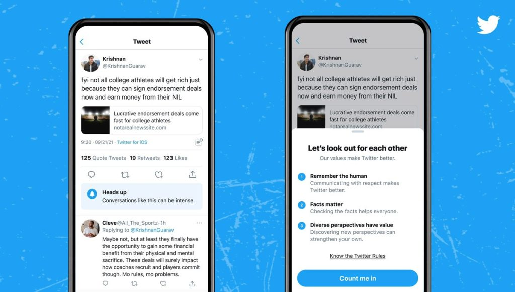 Twitter Tests Feature That Alerts Users Before Potential Nonsense |  Technique